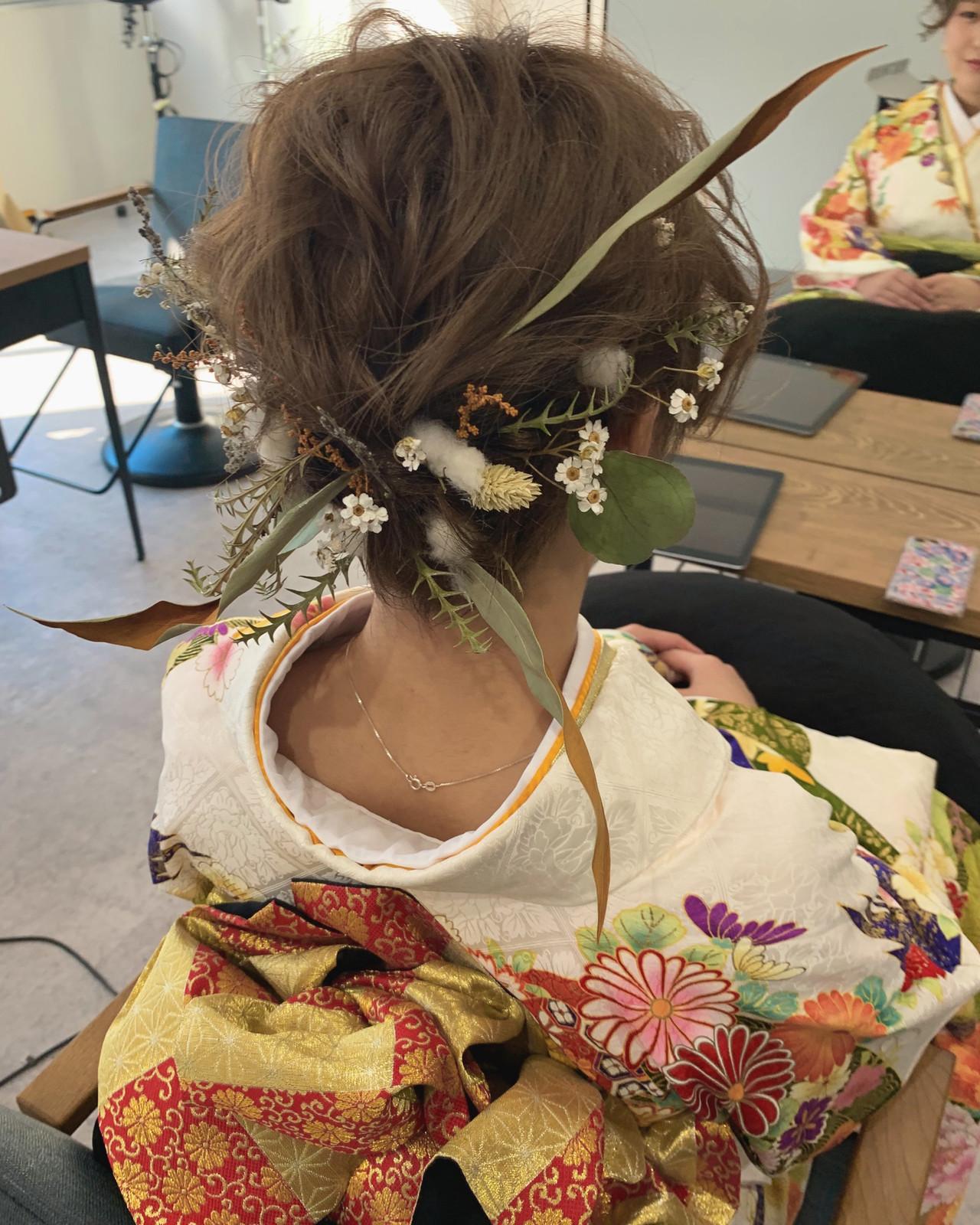 パーティ ナチュラル デート 結婚式 ヘアスタイルや髪型の写真・画像 | YUJI / LIICHI / LIICHI (リイチ)
