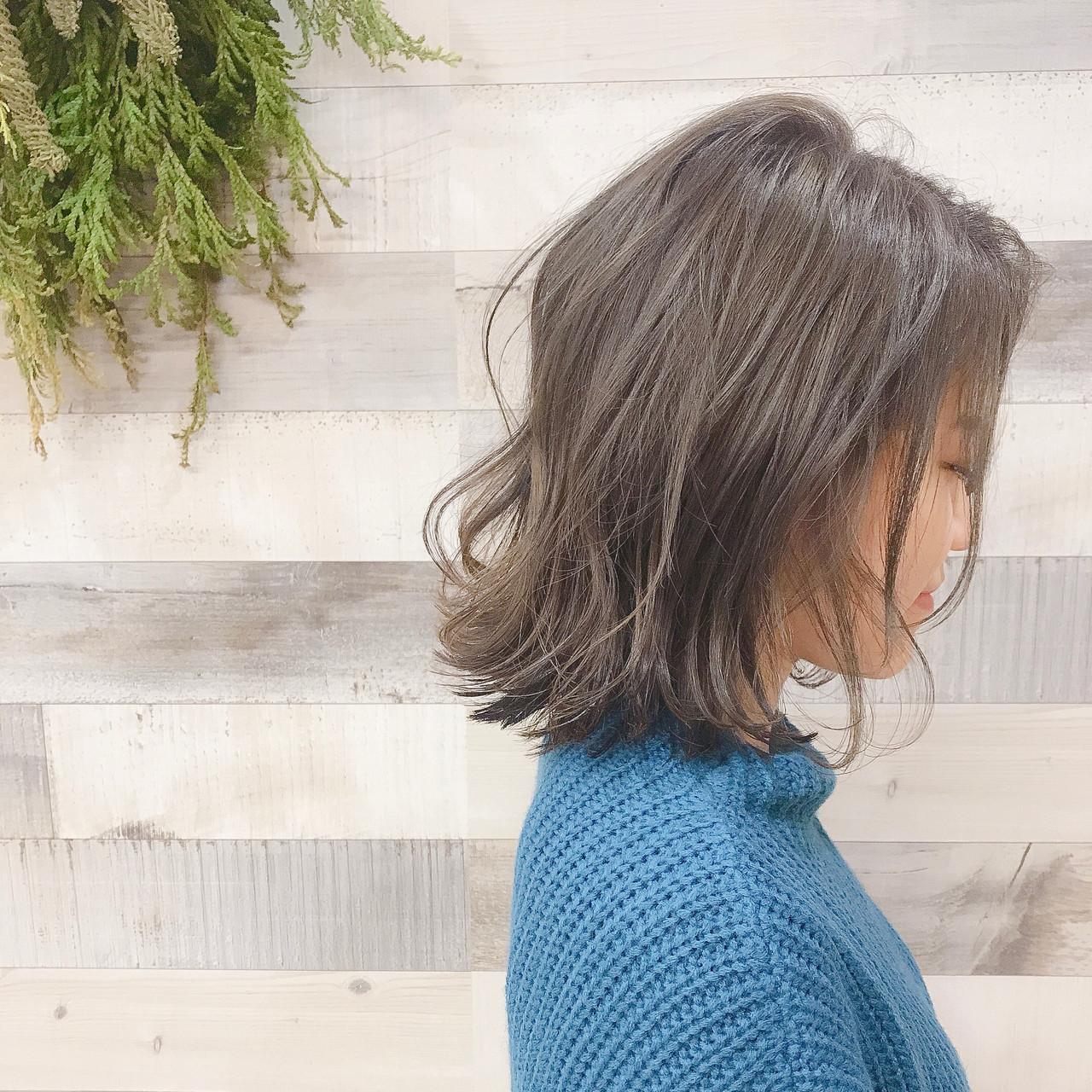 透明感 アンニュイほつれヘア ナチュラル ボブ ヘアスタイルや髪型の写真・画像