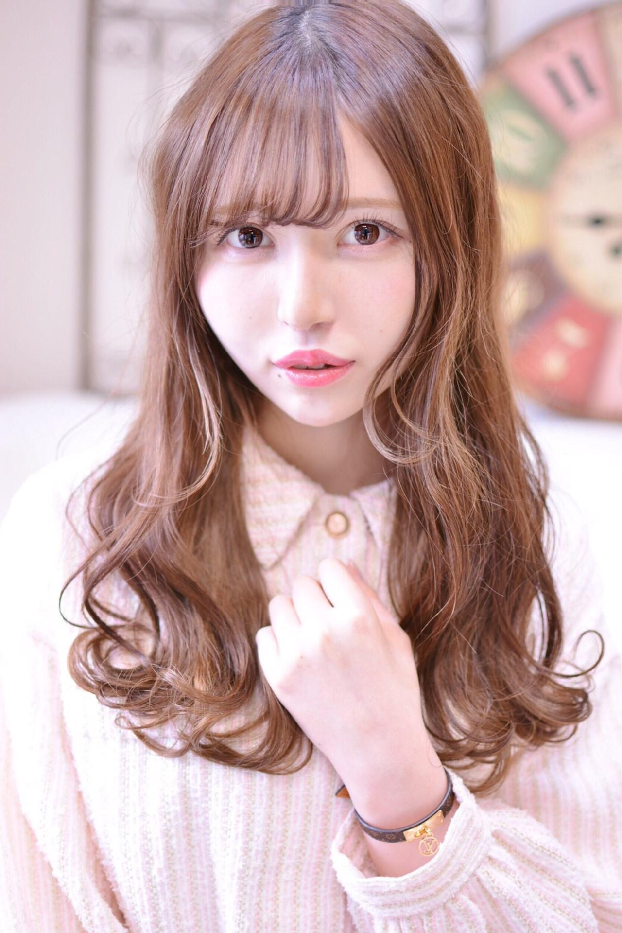ロング デート ゆるふわ 巻き髪 メイズ Shiko Kajihara 458251 Hair