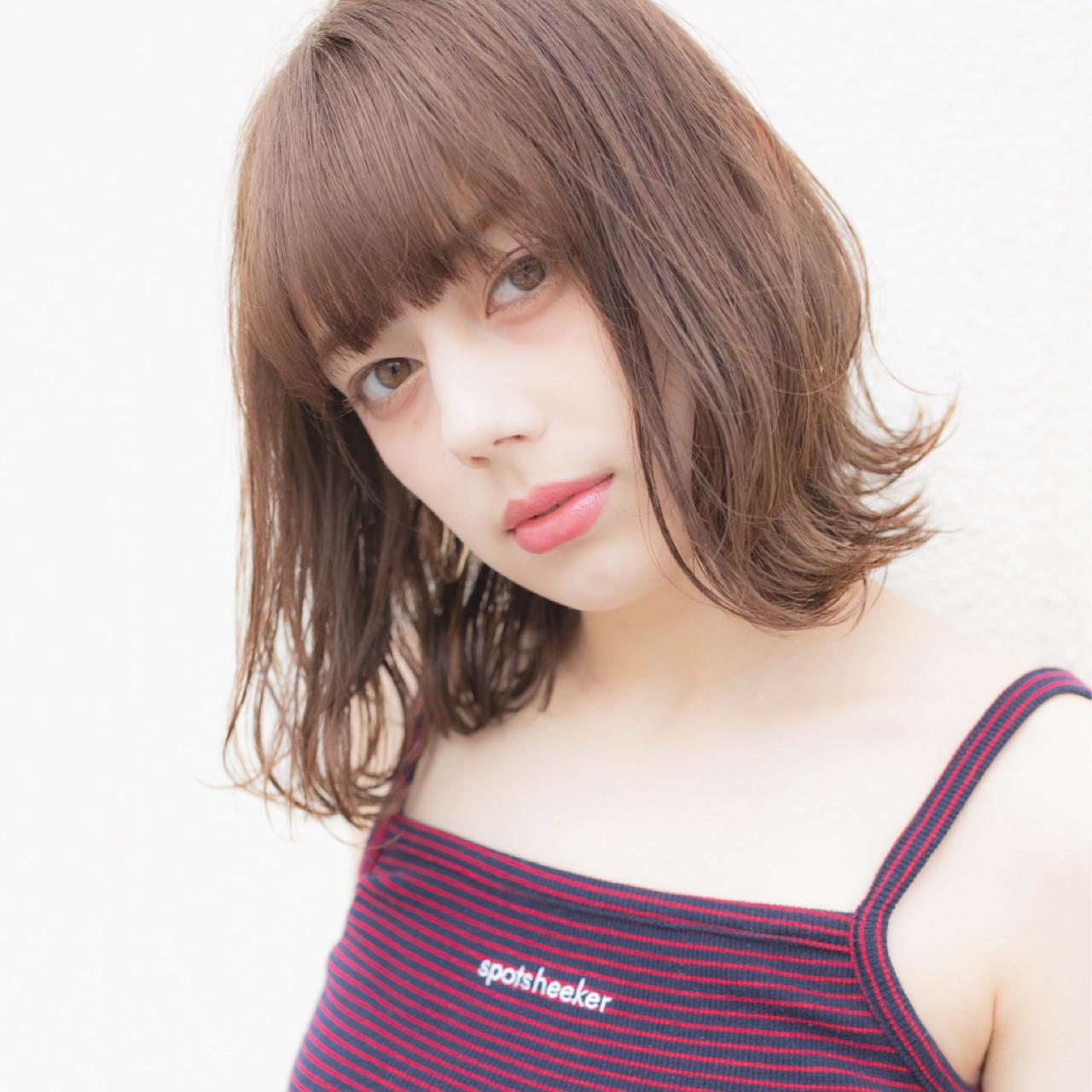 色気 デート ミディアム 夏 ヘアスタイルや髪型の写真・画像