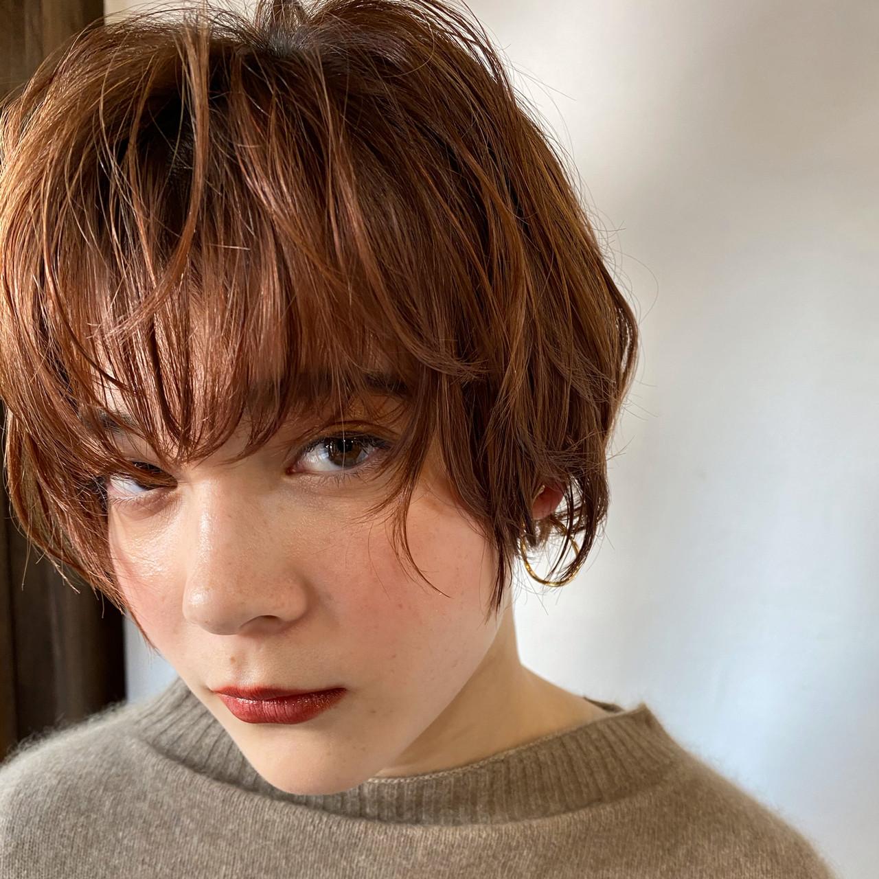 ショート 外国人風パーマ マッシュショート アンニュイほつれヘア ヘアスタイルや髪型の写真・画像