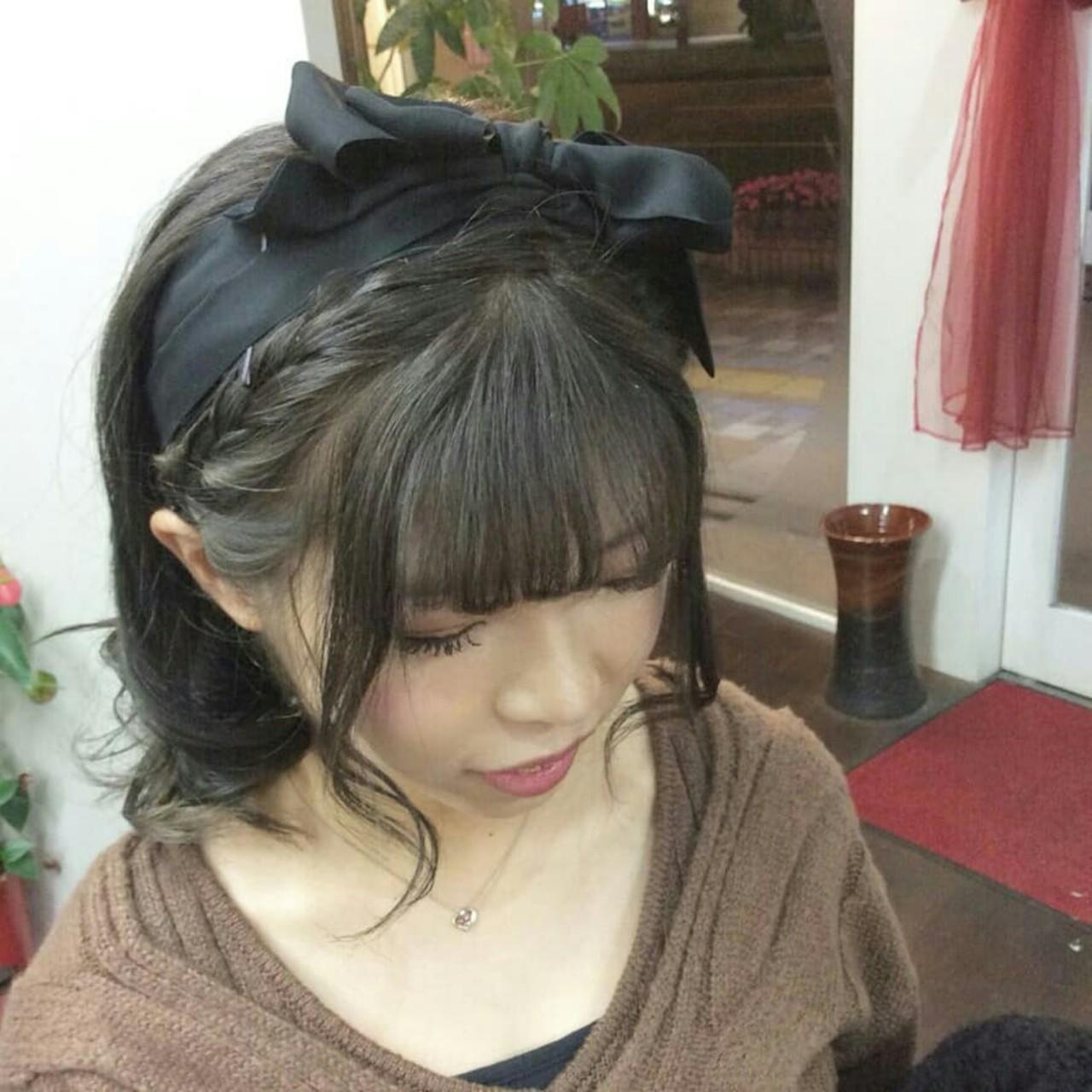 ナチュラル ハーフアップ ヘアアレンジ 編み込み ヘアスタイルや髪型の写真・画像 | rumiLINKS美容室 / リンクス美容室