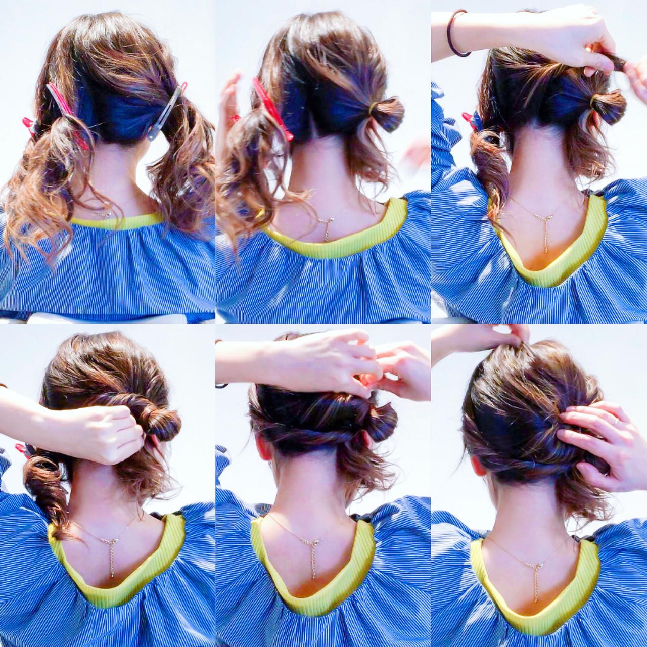 ヘアアレンジ 簡単ヘアアレンジ エレガント ロング ヘアスタイルや髪型の写真・画像
