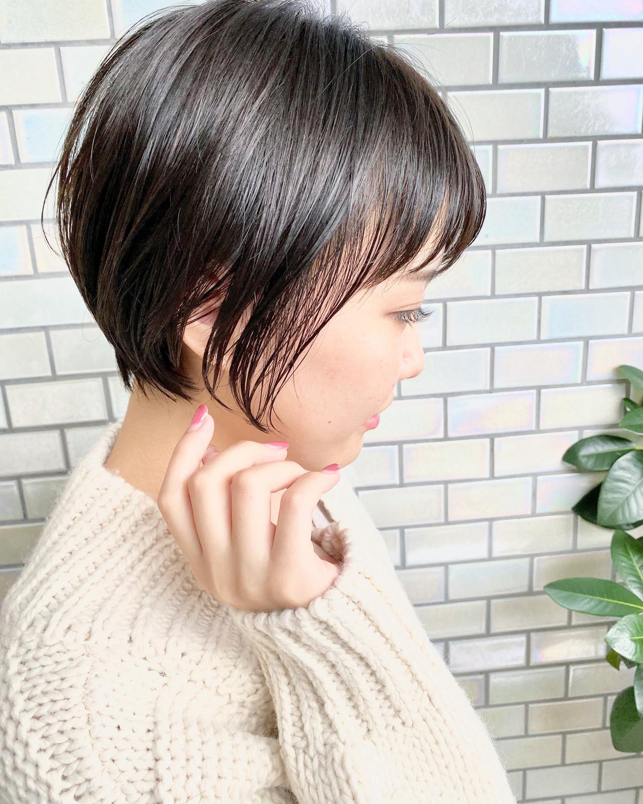 ナチュラル ショート デート ショートヘア ヘアスタイルや髪型の写真・画像 | 大人可愛い【ショート・ボブが得意】つばさ / VIE