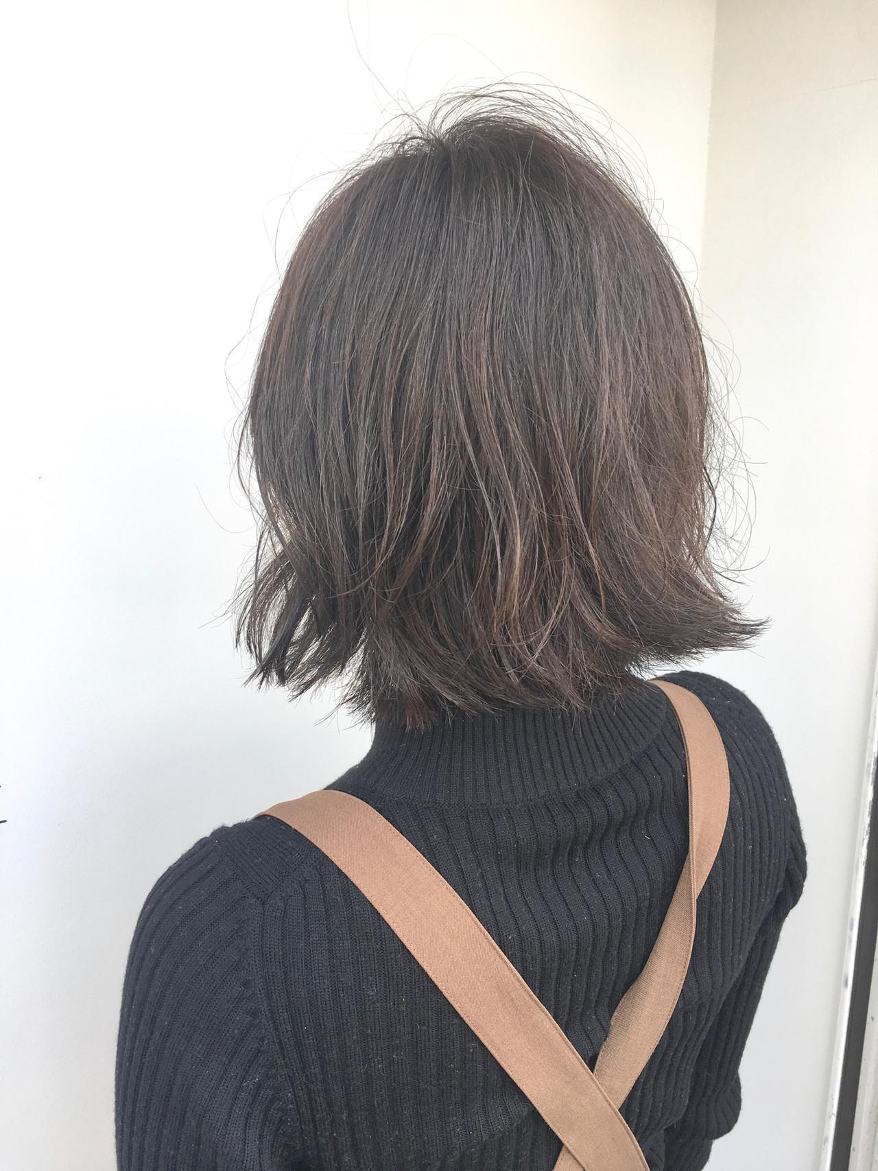 デート アンニュイほつれヘア ボブ ナチュラル ヘアスタイルや髪型の写真・画像 | 大津 和樹 / cachette