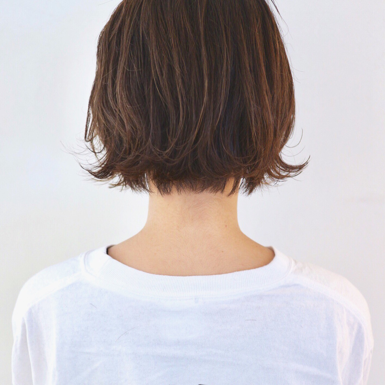 ボブ ストリート ハイライト 外ハネ ヘアスタイルや髪型の写真・画像