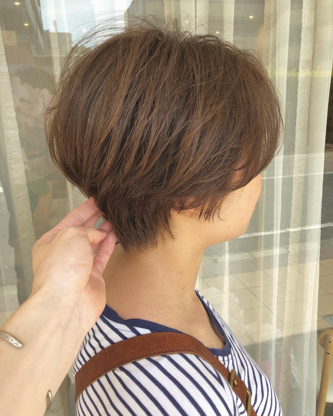 ハンサムショート ショートヘア ショート インナーカラー ヘアスタイルや髪型の写真・画像