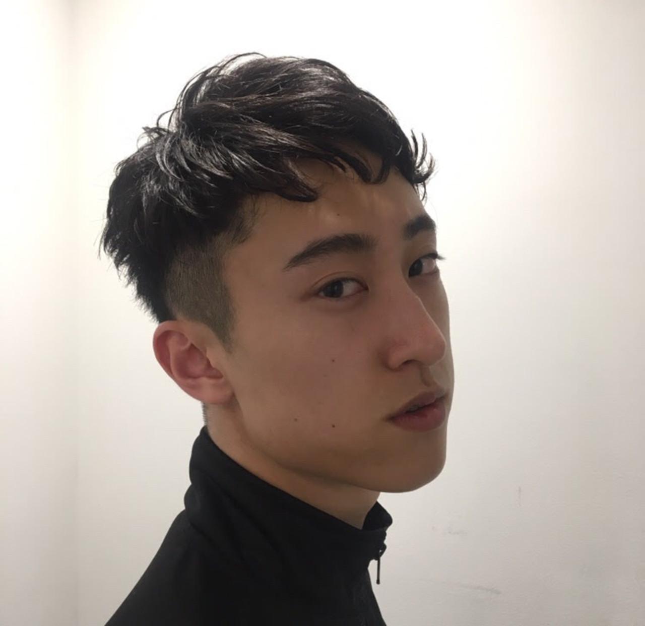 ツーブロック メンズカット ナチュラル メンズショート ヘアスタイルや髪型の写真・画像