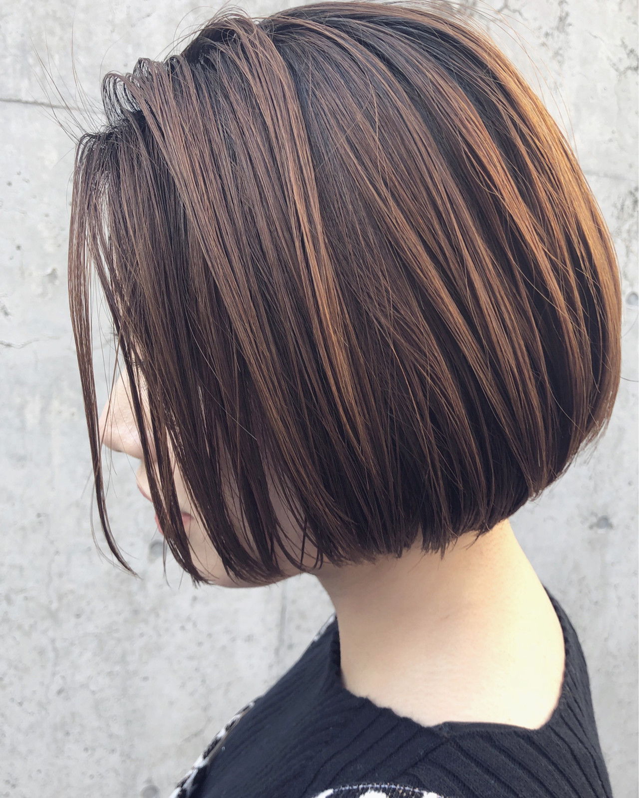 アンニュイほつれヘア ナチュラル ショートボブ ミニボブ ヘアスタイルや髪型の写真・画像