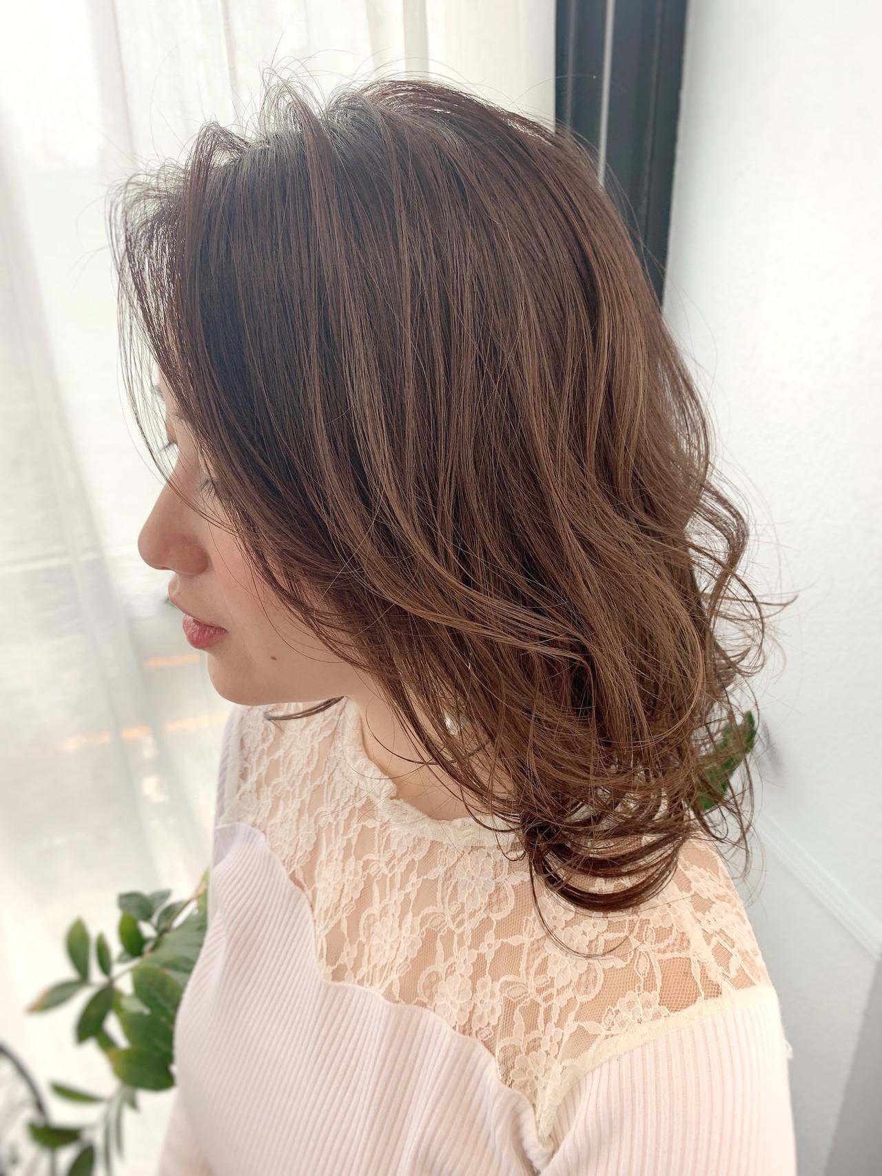 ミディアム エレガント 大人女子 お呼ばれヘア ヘアスタイルや髪型の写真・画像