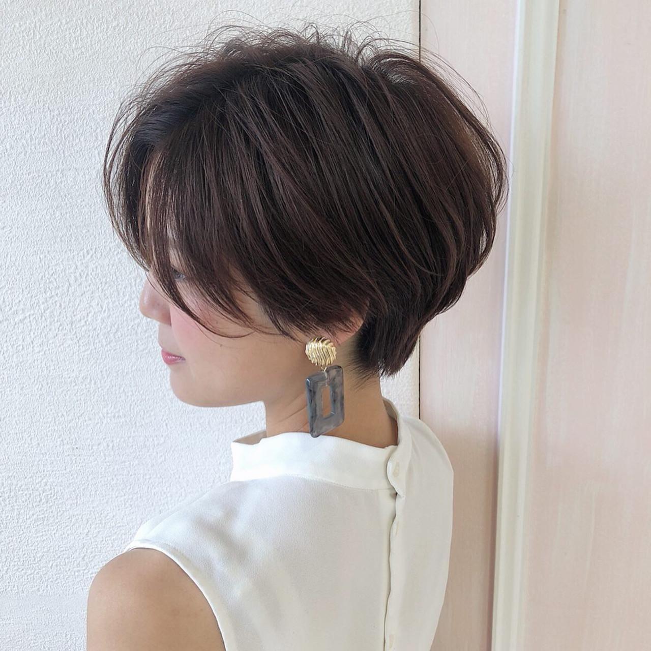 ショートヘア ハンサムショート ショート ナチュラル ヘアスタイルや髪型の写真・画像   島本 涼雅 / Lond damaskRose