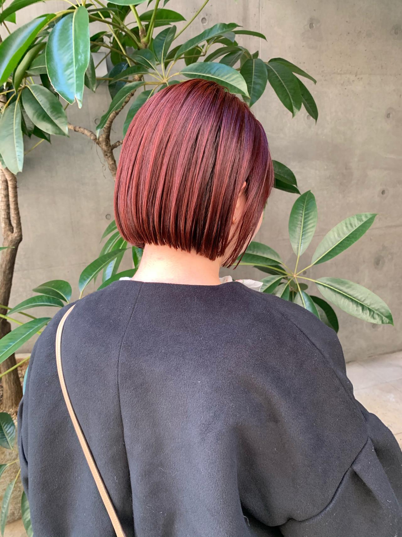 ショートボブ ミニボブ ストリート 切りっぱなしボブ ヘアスタイルや髪型の写真・画像 | 内山 俊平【C・crew】 / C・crew