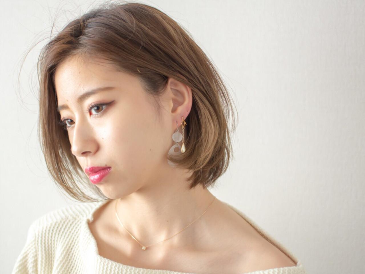 外国人風 デート 透明感 オフィス ヘアスタイルや髪型の写真・画像