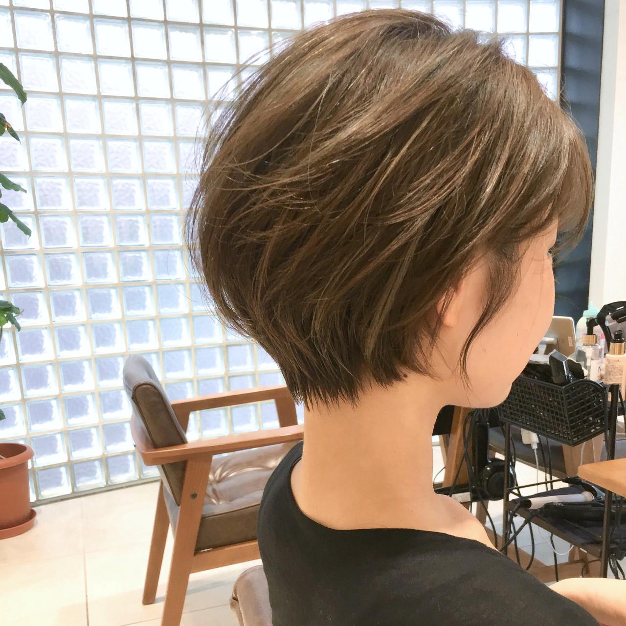 オフィス ナチュラル ショート スポーツ ヘアスタイルや髪型の写真・画像