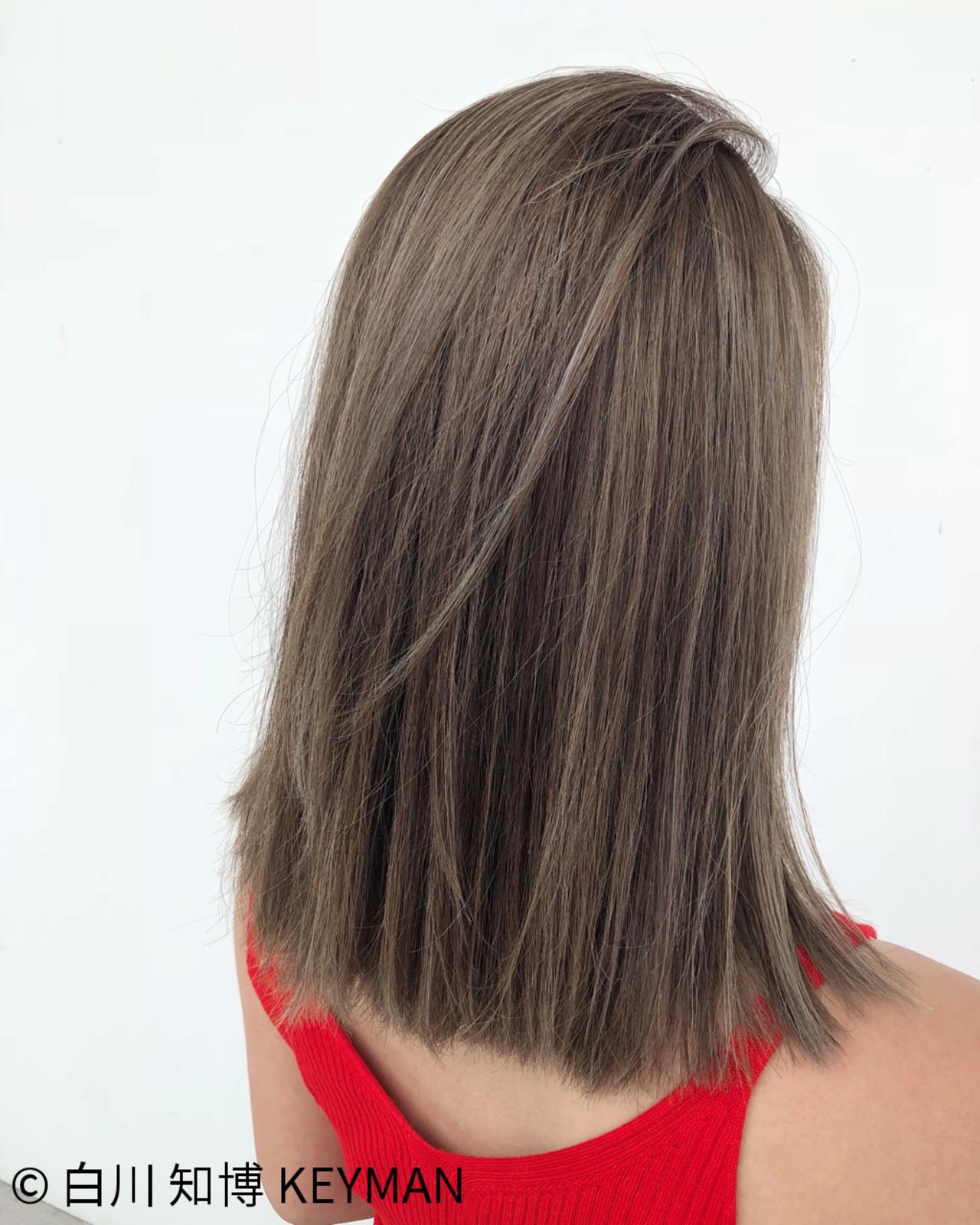 ストリート ミディアム ロブ ボブ ヘアスタイルや髪型の写真・画像 | 白川 知博 / KEYMAN
