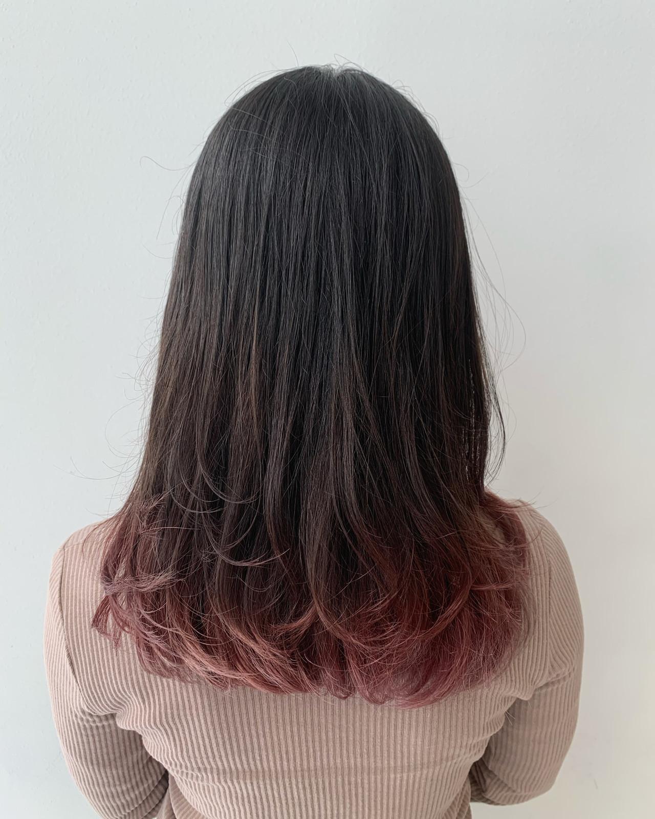 ロング ピンク ラベンダーピンク ベリーピンク ヘアスタイルや髪型の写真・画像 | [ALIVE] 石井大夢 / ALIVE