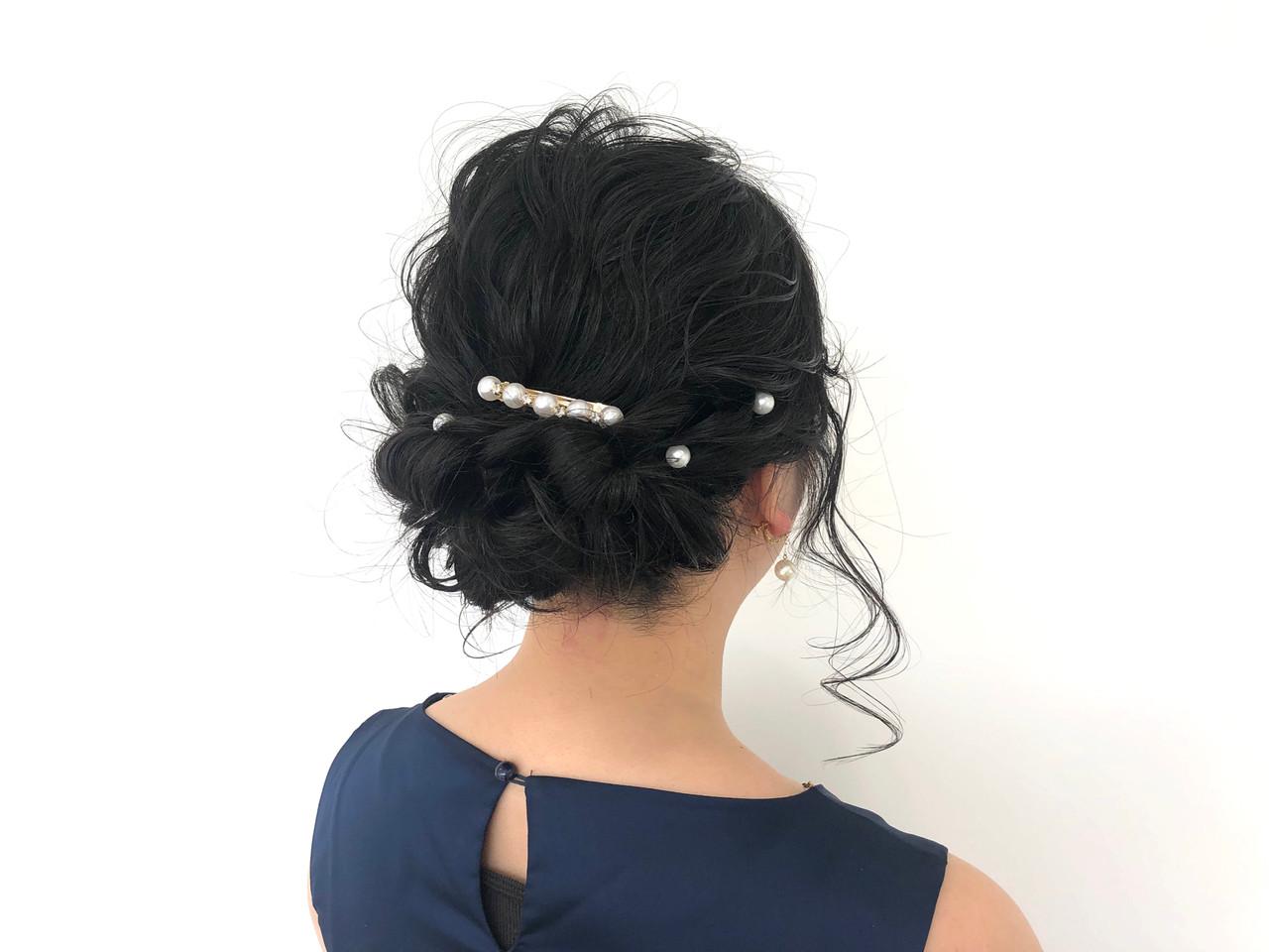 簡単ヘアアレンジ セミロング フェミニン ヘアアレンジ ヘアスタイルや髪型の写真・画像 | 玉置 泉 / 面貸し美容室