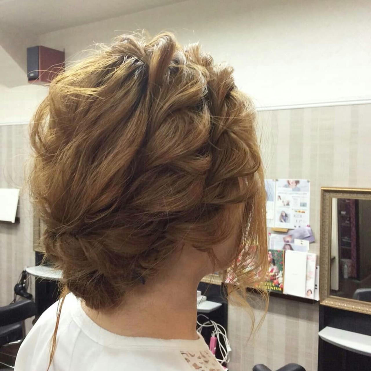 ヘアアレンジ 編み込み 結婚式 エレガント ヘアスタイルや髪型の写真・画像