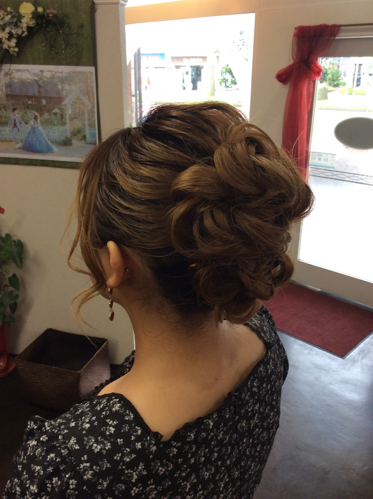 ロング ナチュラル 結婚式 簡単ヘアアレンジ ヘアスタイルや髪型の写真・画像