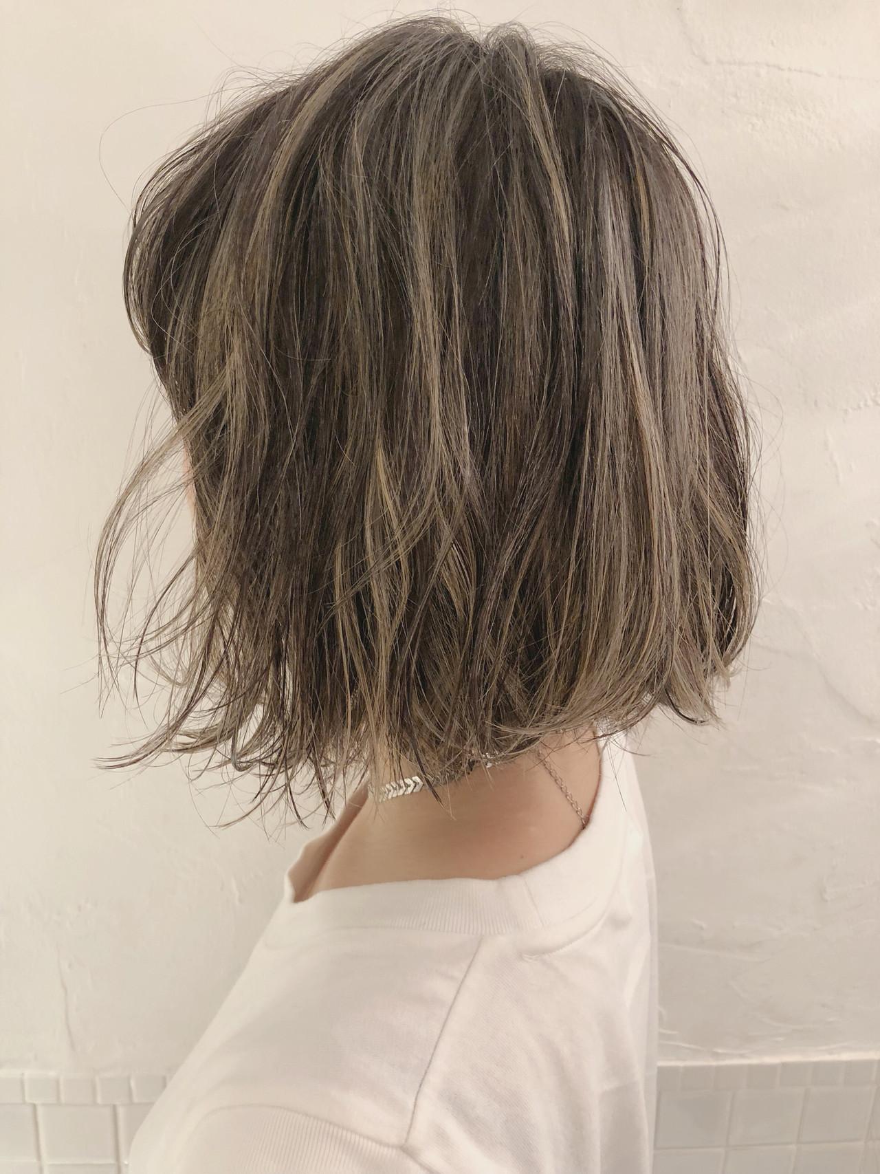 ナチュラル ボブ 切りっぱなし 切りっぱなしボブ ヘアスタイルや髪型の写真・画像 | 遠山まり / kakimoto arms 青山店