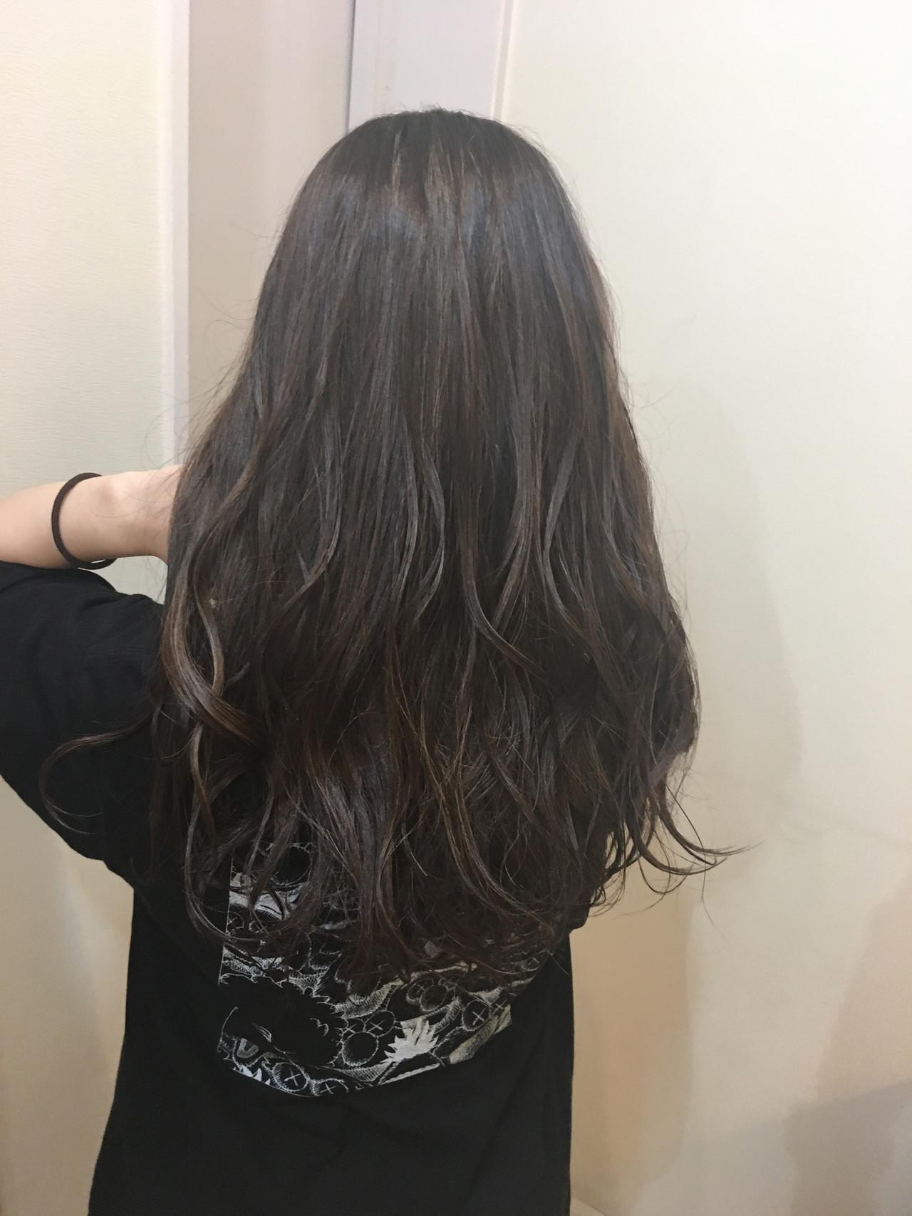 3Dハイライト ロング コントラストハイライト ナチュラル ヘアスタイルや髪型の写真・画像 | 《町田の美容師》キタダヒロキ / Hair Frais Make
