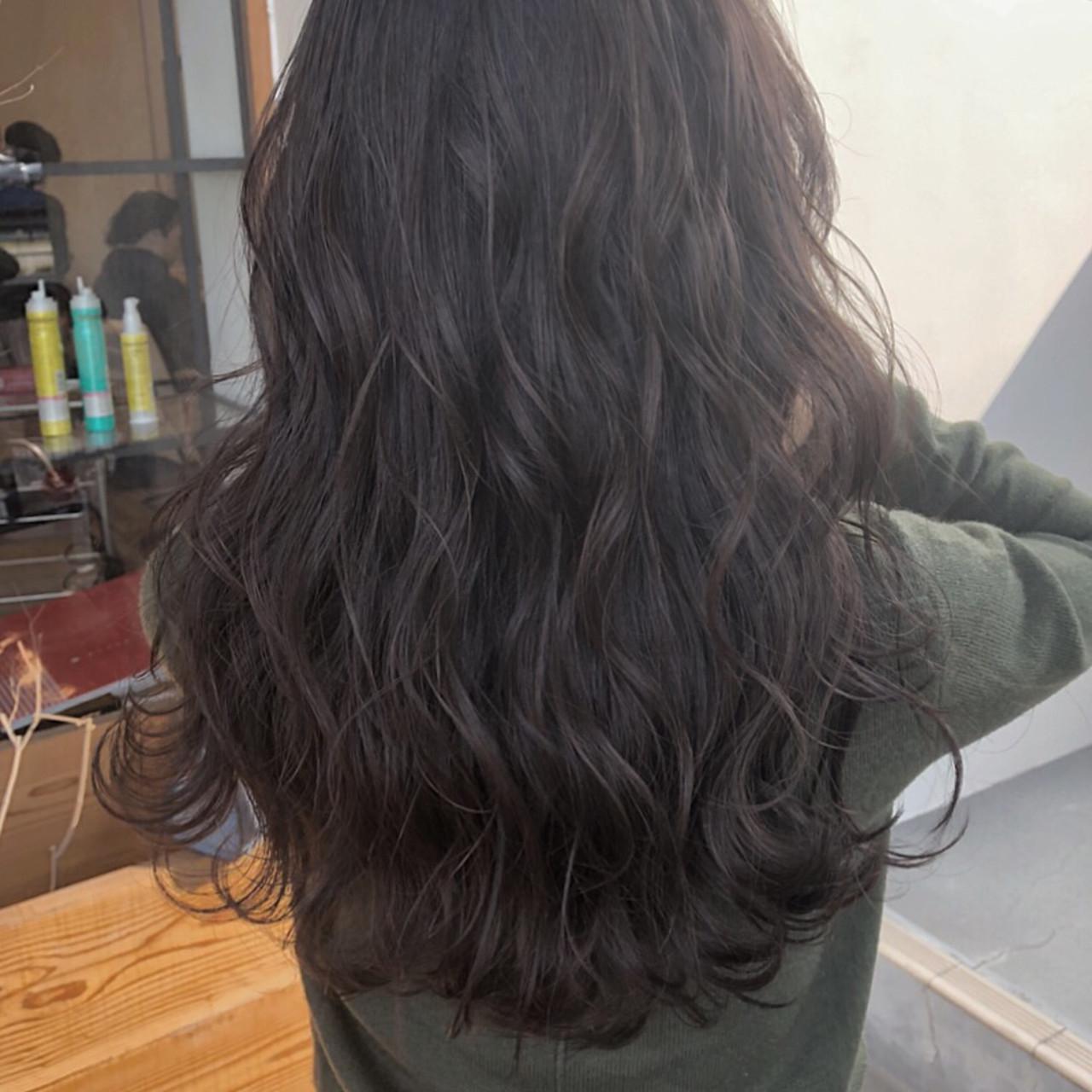 ハイライト ロング デート ナチュラル ヘアスタイルや髪型の写真・画像