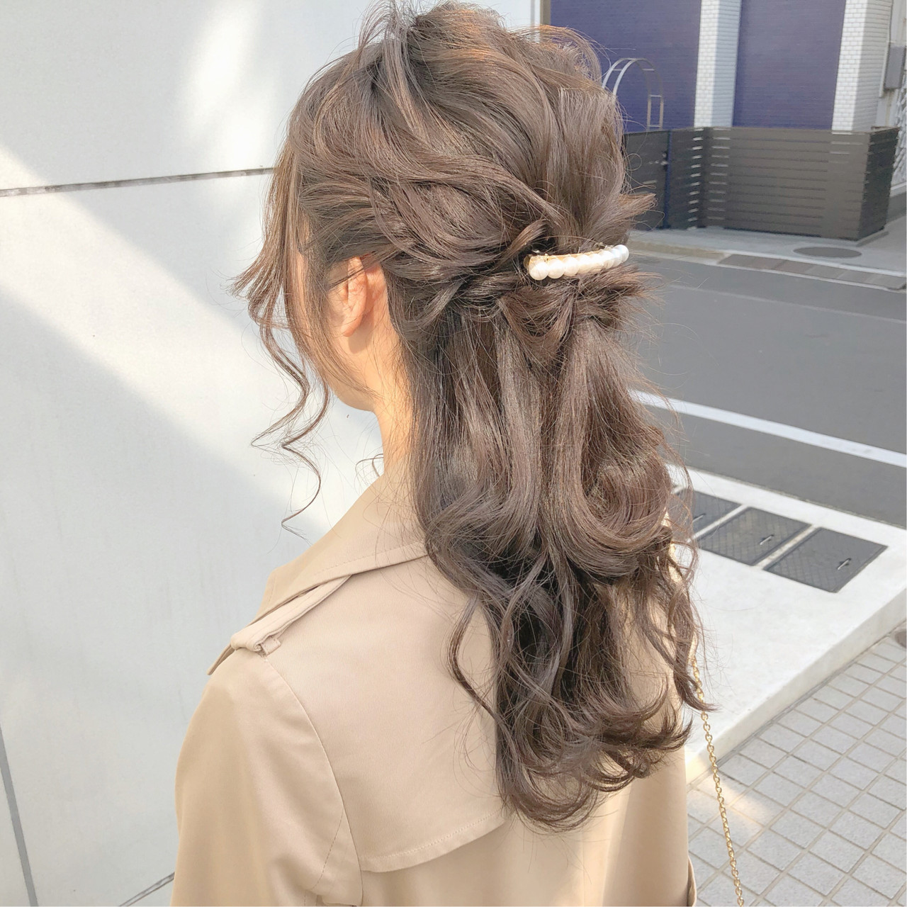 簡単ヘアアレンジ ヘアアレンジ デート ナチュラル ヘアスタイルや髪型の写真・画像