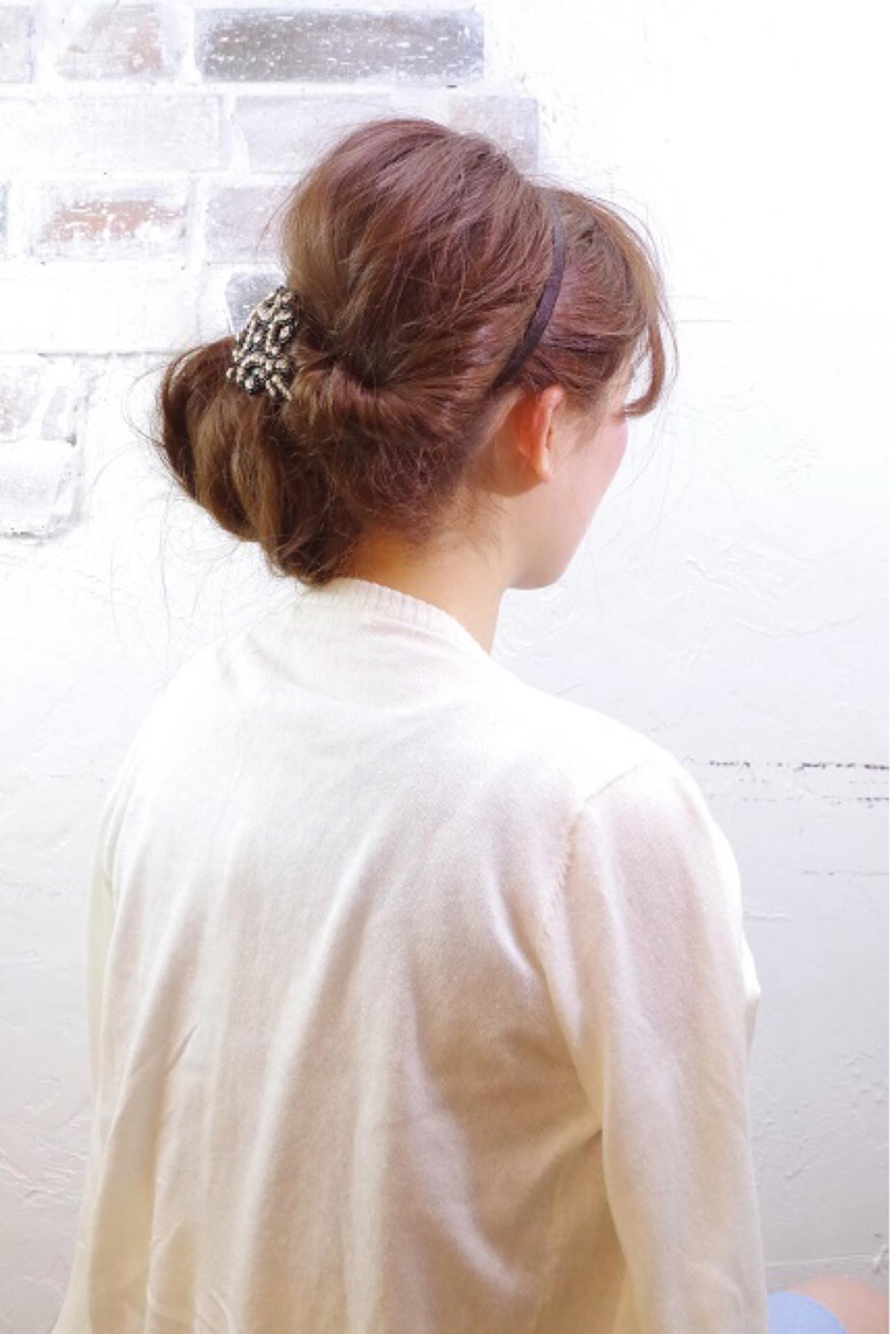 簡単ヘアアレンジ ロング ショート ゆるふわ ヘアスタイルや髪型の写真・画像 | Nao Kokubun blast / blast