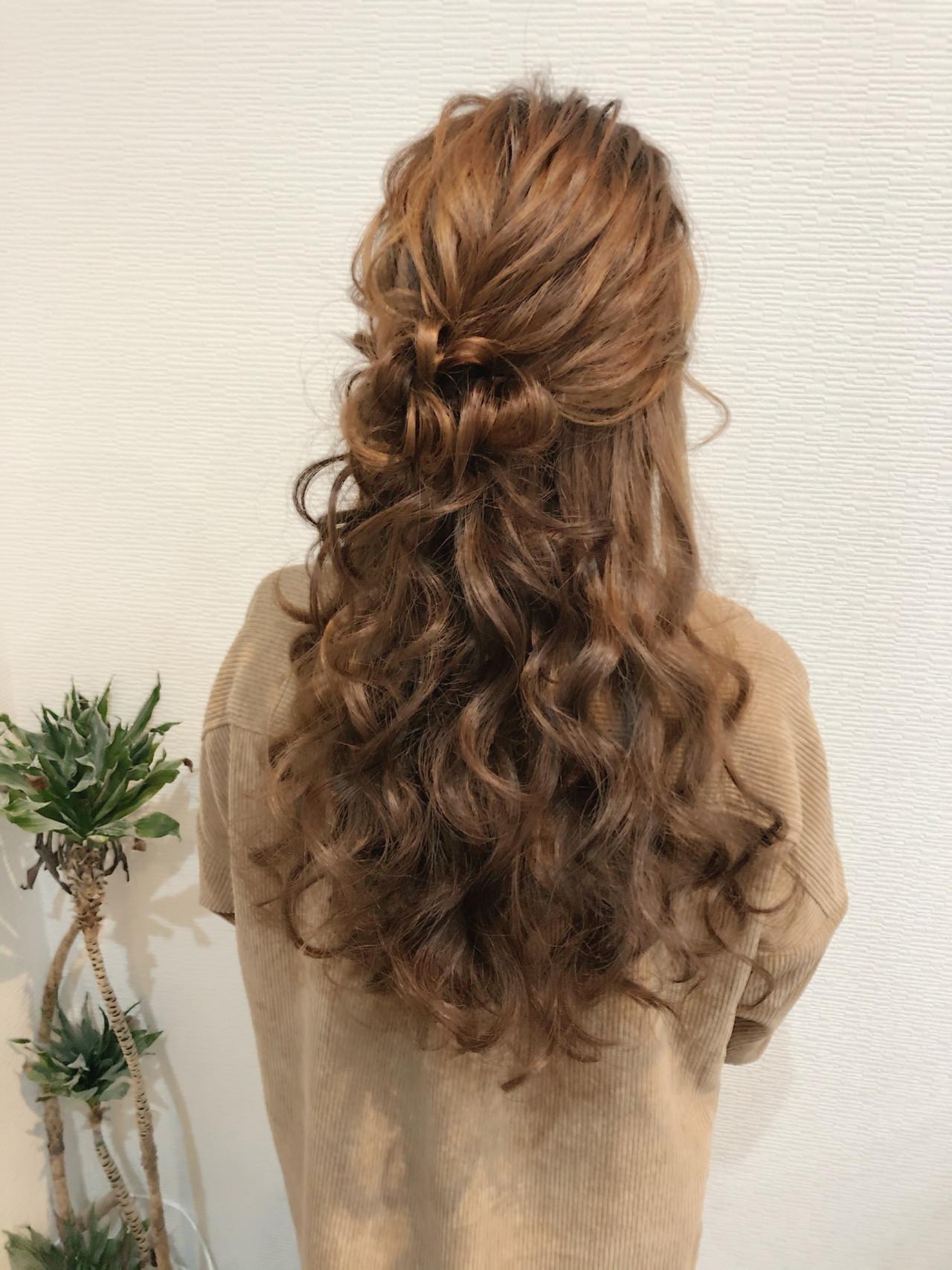 ヘアセット ヘアアレンジ お団子アレンジ ロング ヘアスタイルや髪型の写真・画像