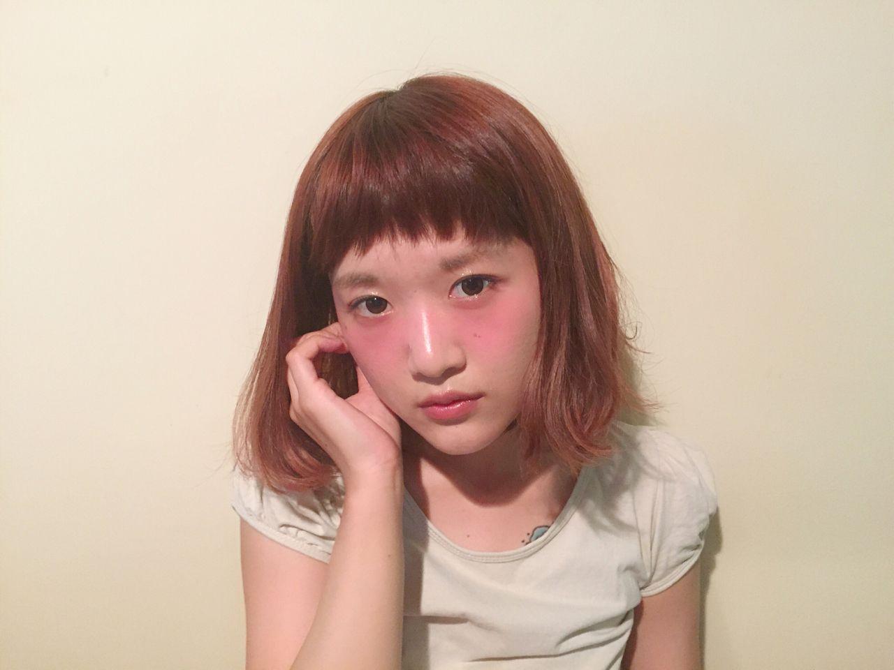ナチュラル ボブ モテ髪 愛され ヘアスタイルや髪型の写真・画像 | Chihiro Hayakawa /