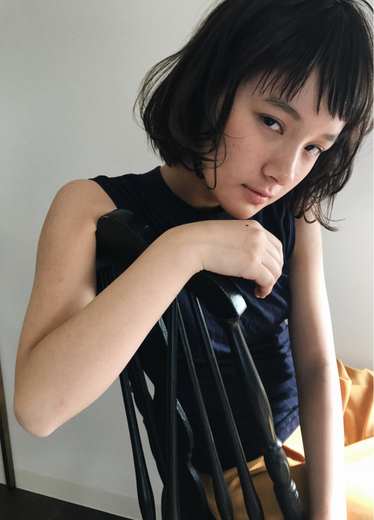 似合わせ 小顔 ショートバング ショート ヘアスタイルや髪型の写真・画像