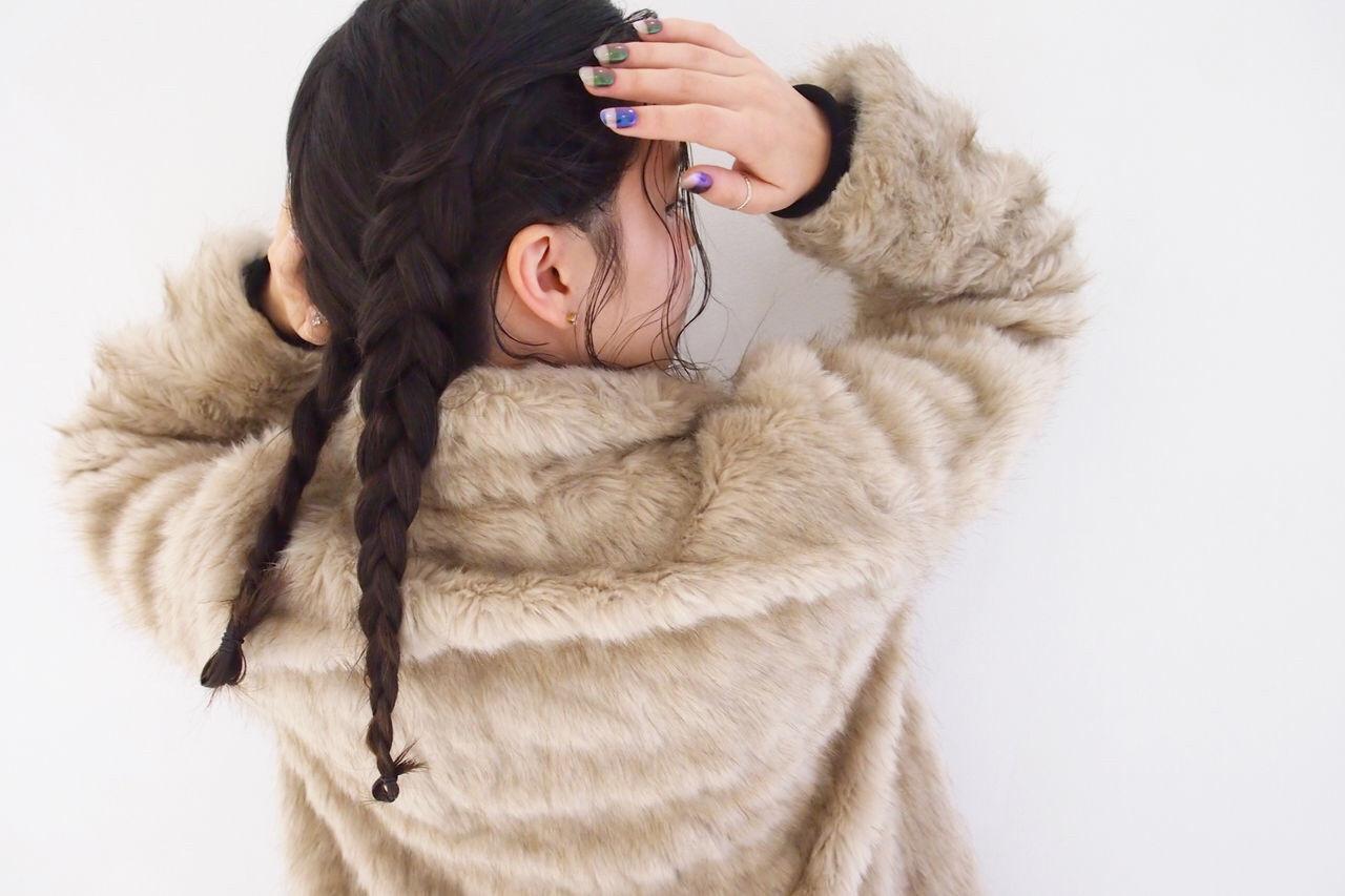 後れ毛 簡単ヘアアレンジ ロング スポーツ ヘアスタイルや髪型の写真・画像
