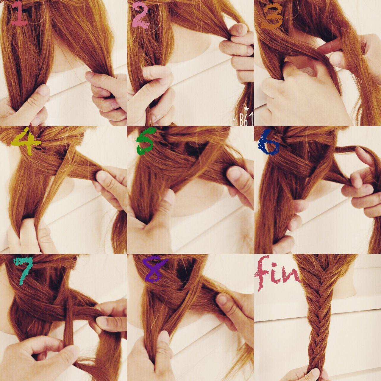 ヘアアレンジ ガーリー セミロング フィッシュボーン ヘアスタイルや髪型の写真・画像   いまむ / ARES