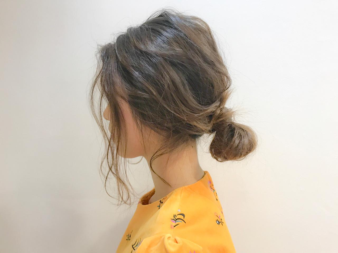 簡単ヘアアレンジ ロング ナチュラル ヘアアレンジ ヘアスタイルや髪型の写真・画像