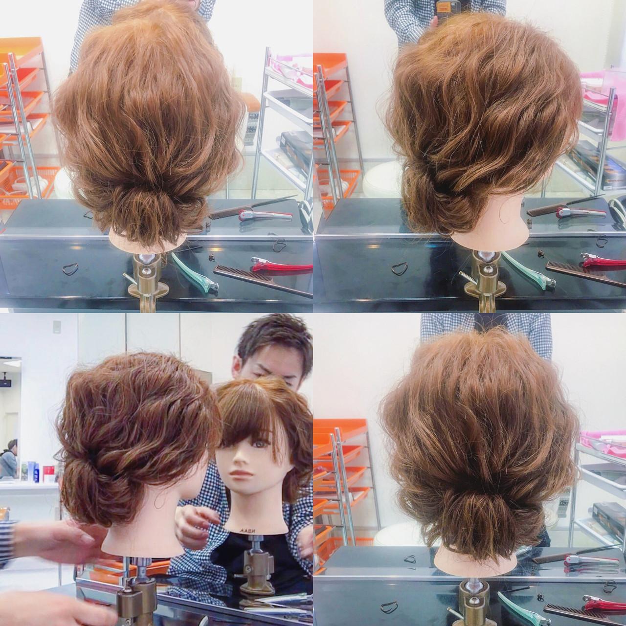 大人かわいい ミディアム ヘアアレンジ ルーズ ヘアスタイルや髪型の写真・画像