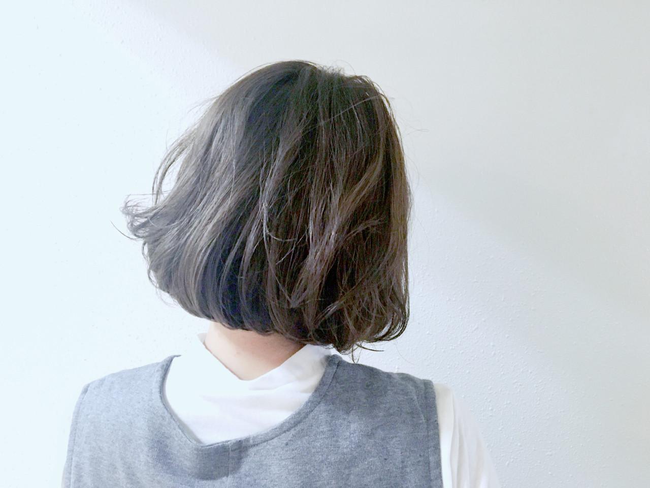 アッシュグレージュ 暗髪 グレージュ 外国人風カラー ヘアスタイルや髪型の写真・画像