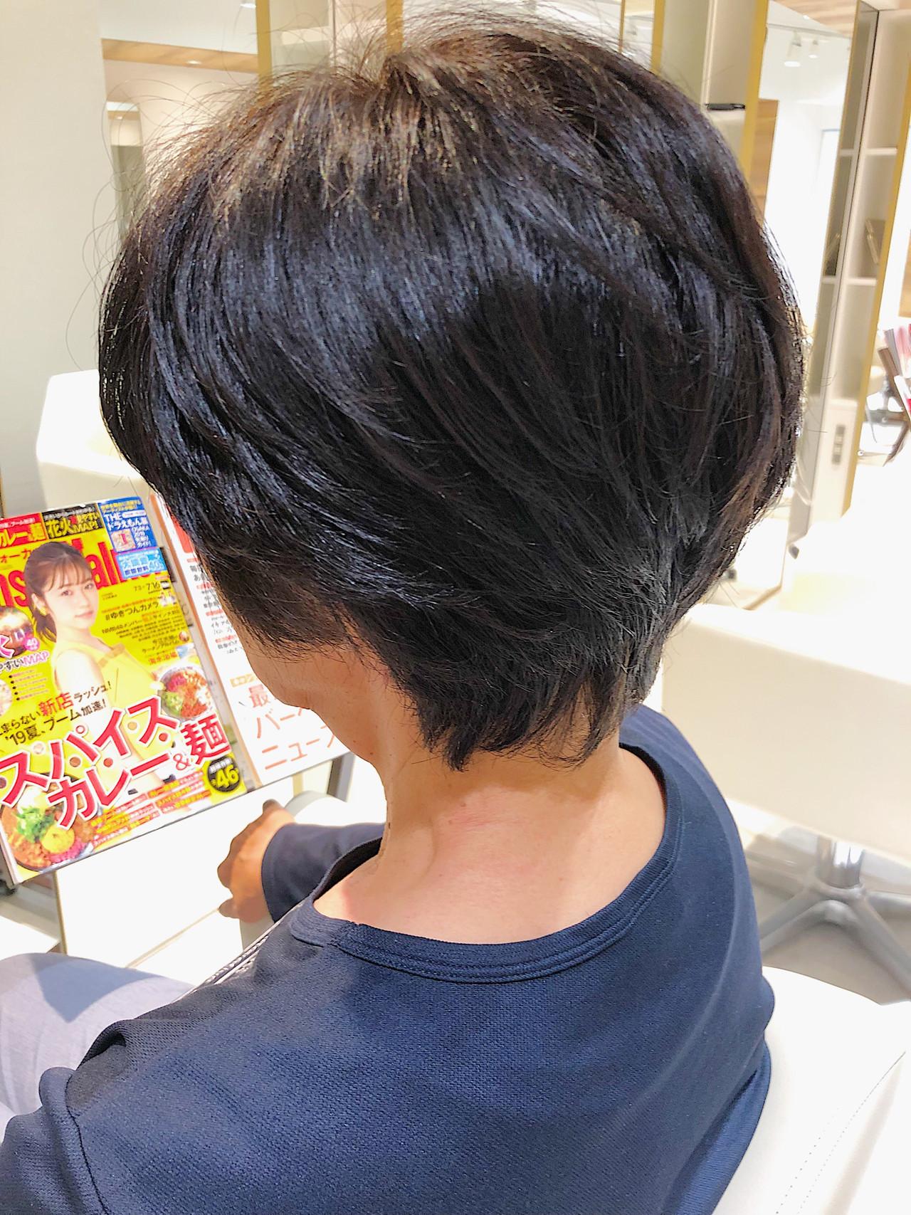 ナチュラル可愛い ハンサムショート ナチュラル ショートヘア ヘアスタイルや髪型の写真・画像