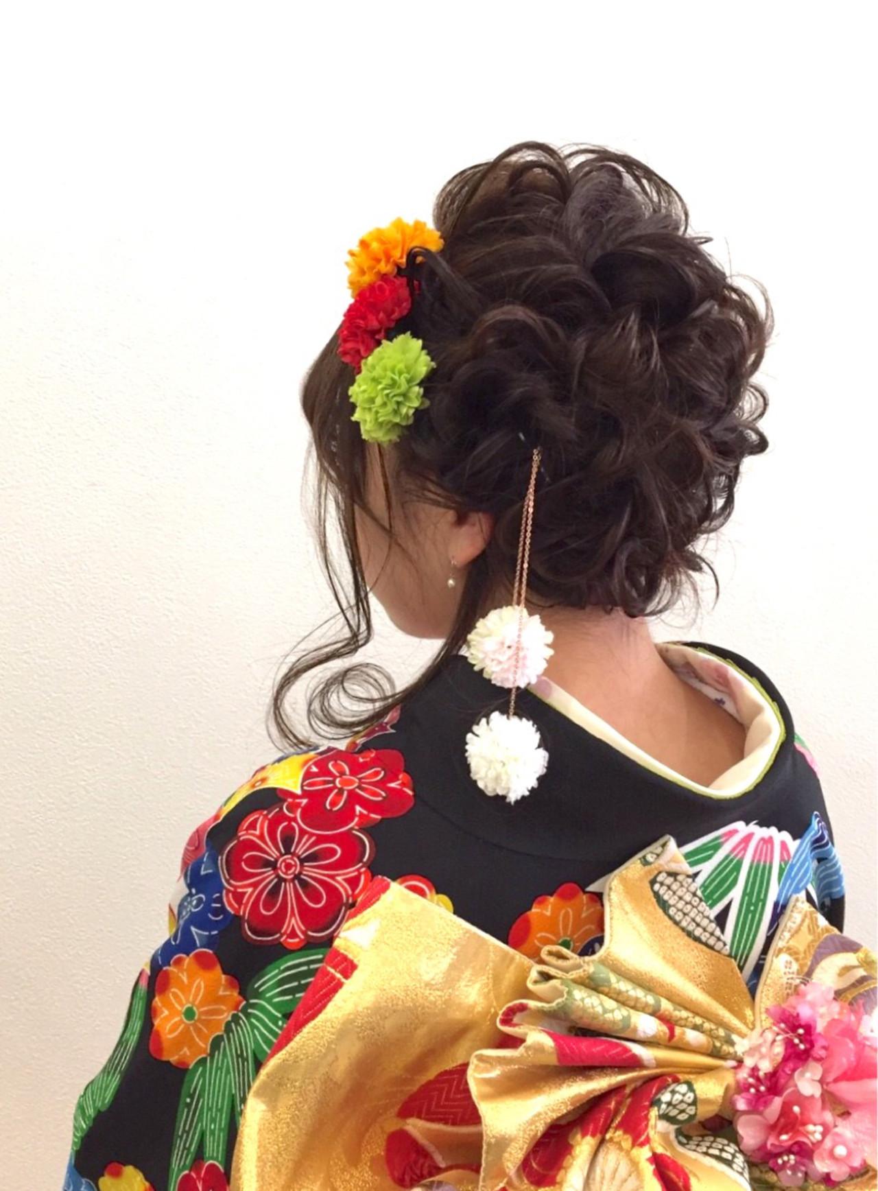 成人式 外国人風 大人かわいい ゆるふわ ヘアスタイルや髪型の写真・画像 | Nakayama Youhei / JUNO