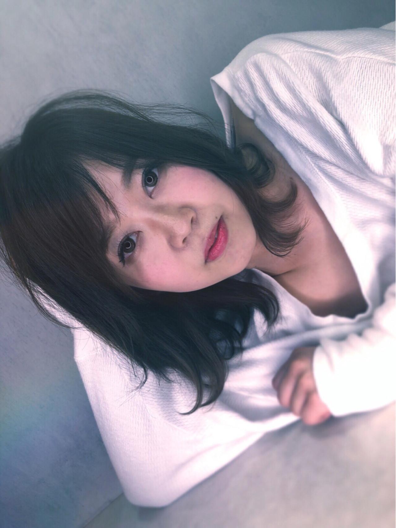 透明感 ナチュラル ハイライト 前髪あり ヘアスタイルや髪型の写真・画像