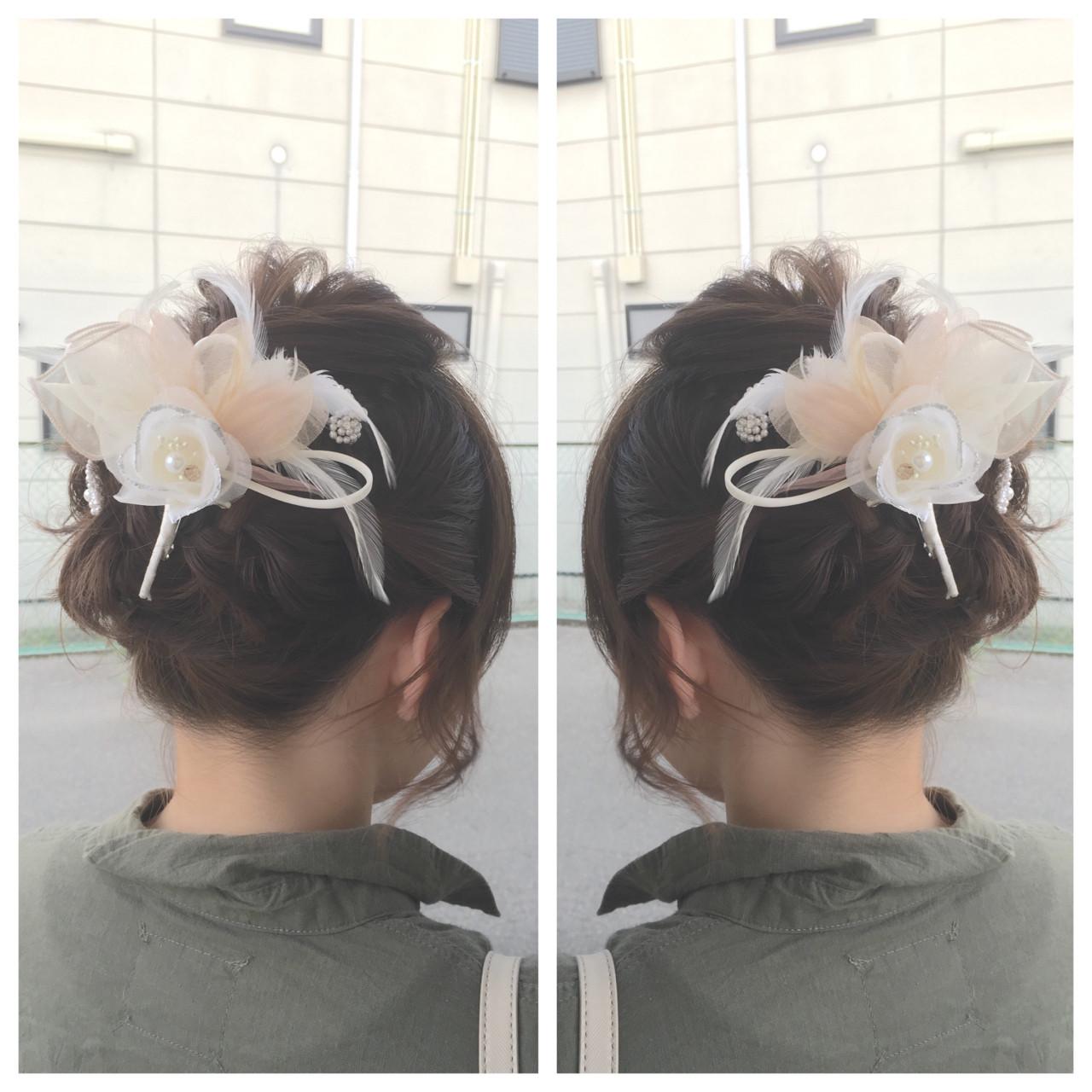 ボブ 大人女子 ヘアアレンジ 花火大会 ヘアスタイルや髪型の写真・画像