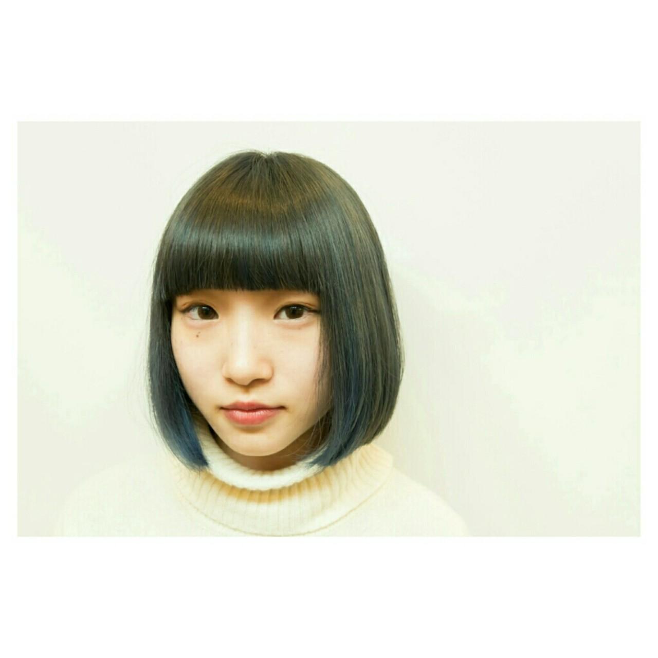 インナーカラー ブルージュ ダブルカラー モード ヘアスタイルや髪型の写真・画像