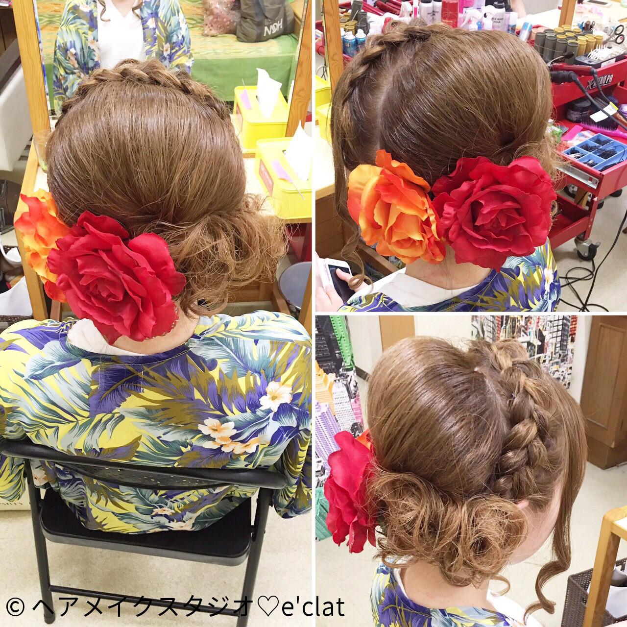 ヘアアレンジ 夏 お祭り 花火大会 ヘアスタイルや髪型の写真・画像