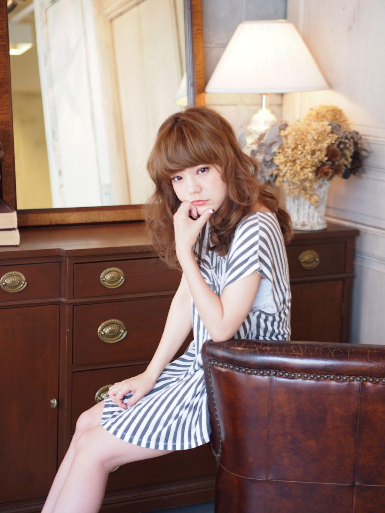 モテ髪 コンサバ 愛され 大人かわいい ヘアスタイルや髪型の写真・画像 | 加納 寛之【LOJE】 / 【LOJE】