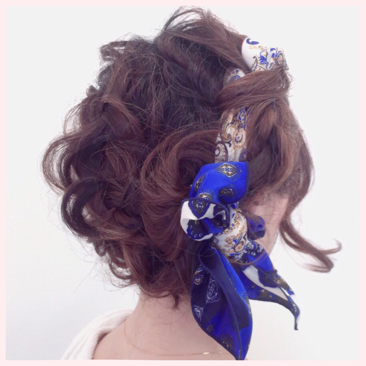 編み込み ヘアアレンジ ボブ ヘアアクセ ヘアスタイルや髪型の写真・画像