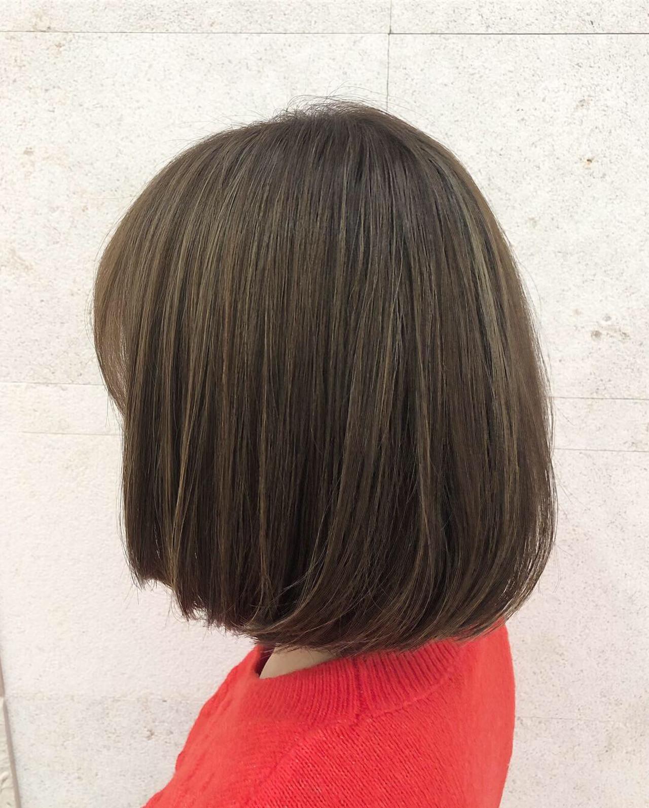 ベージュ 外国人風カラー コンサバ ハイライト ヘアスタイルや髪型の写真・画像