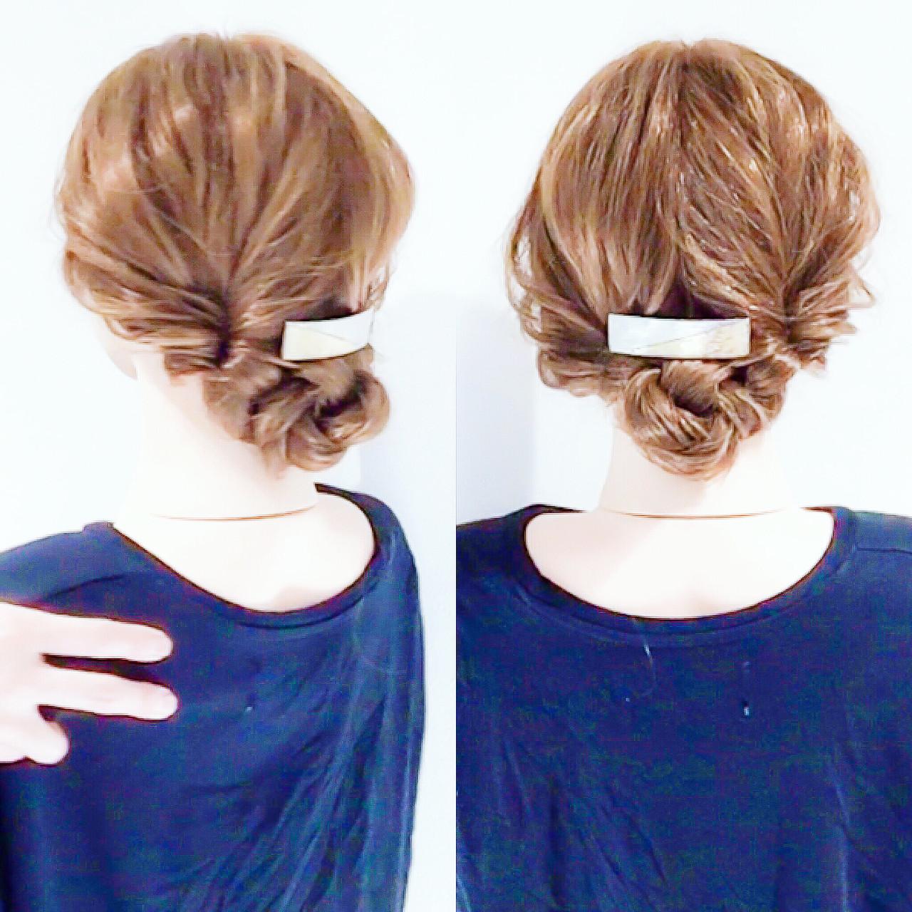 アップスタイル フェミニン ロング ヘアアレンジ ヘアスタイルや髪型の写真・画像