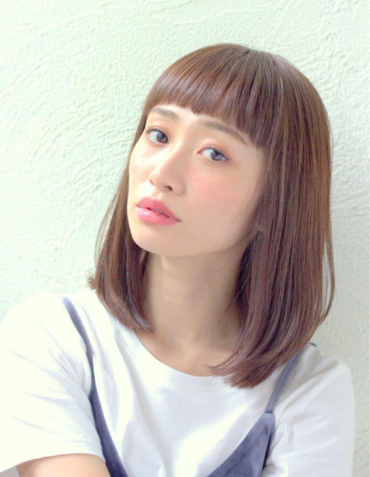 大人かわいい ナチュラル ミディアム ピュア ヘアスタイルや髪型の写真・画像 | HIRA / Un ami