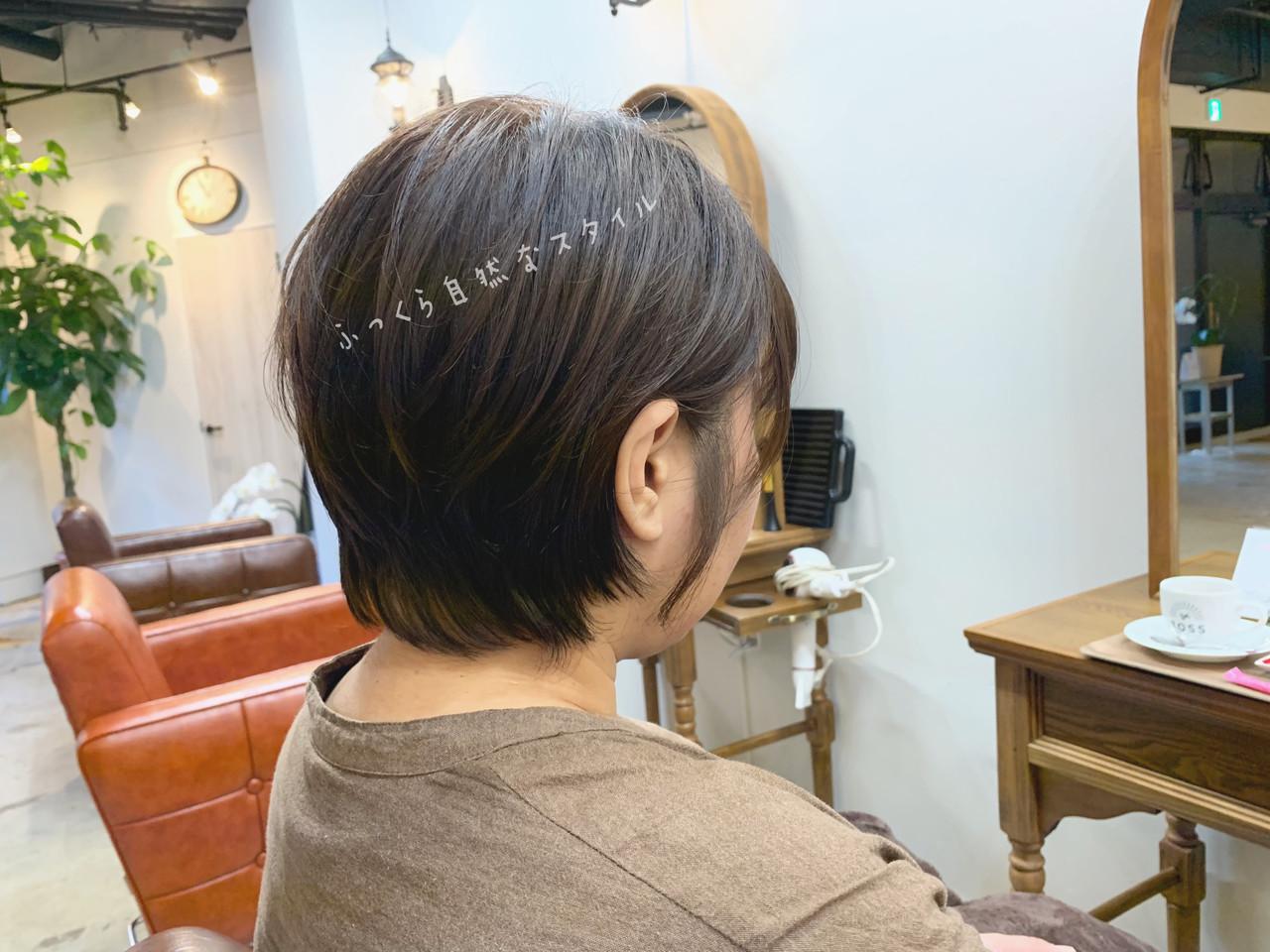 ショート パーマ オフィス デート ヘアスタイルや髪型の写真・画像