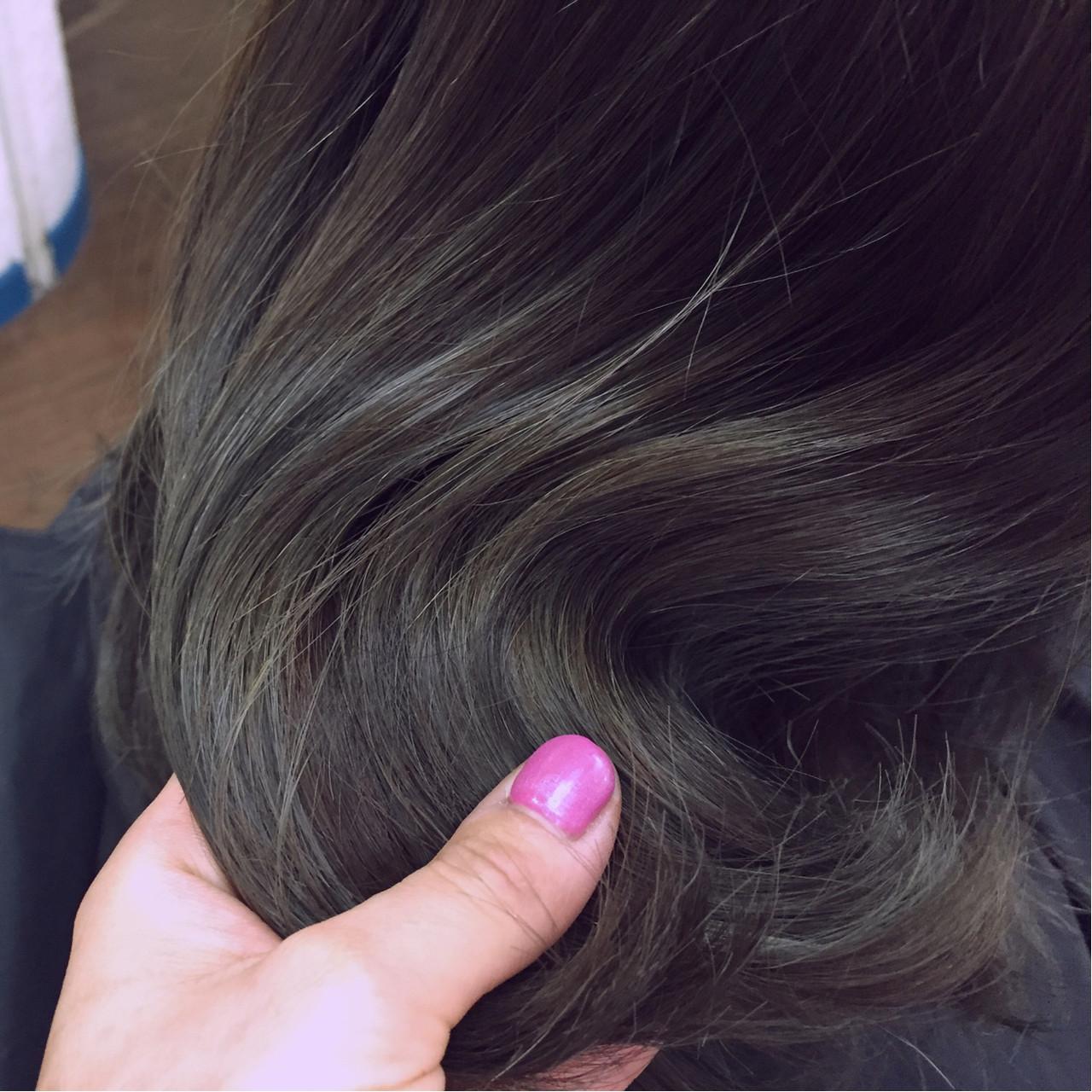 ハイライト セミロング 大人かわいい 外国人風 ヘアスタイルや髪型の写真・画像