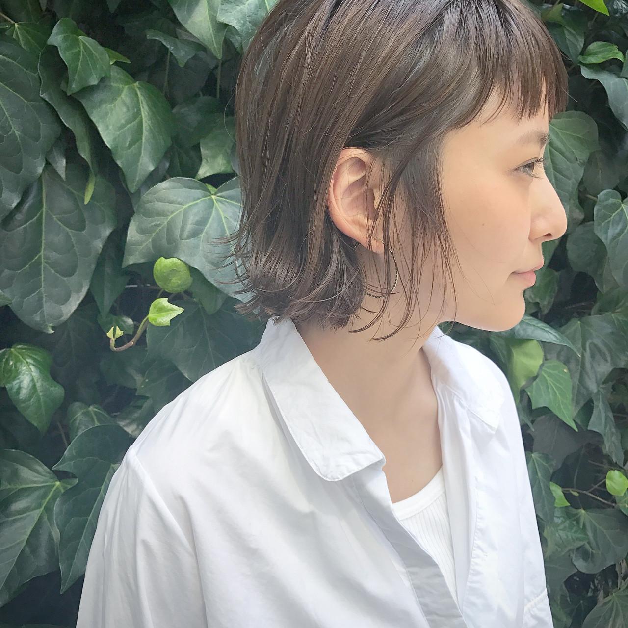オン眉 大人かわいい 大人女子 ナチュラル ヘアスタイルや髪型の写真・画像